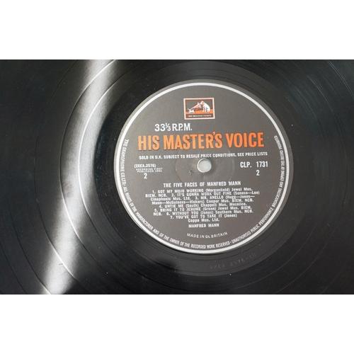 295 - Vinyl - Manfred Mann The Five Faces of Manfred Mann LP, original HMV advertising inner, sleeve and v...