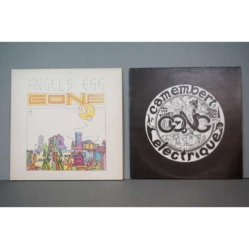 296 - Vinyl - Gong 2 LP's Camembert Electrique (VC 502) and Angels Egg (V 2007) with Radio Gnome Invisible...