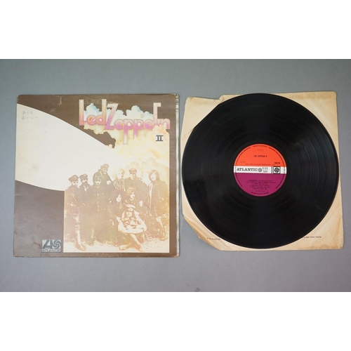 315 - Vinyl - 2 Led Zeppelin LPs to include Two (588198) plum Atlantic label with The Lemon Song credit to...