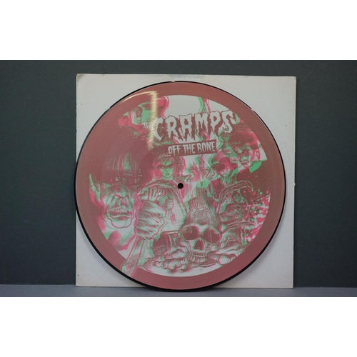 318 - Vinyl - The Cramps - Off The Bone picture disc reissue LP (white sleeve inner with writing, vinyl ex...