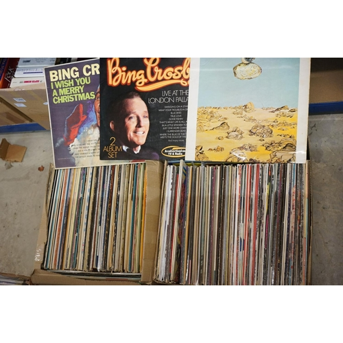 380 - Vinyl - Around 220 LPs to include many Country artists, Elvis Costello, Compilations etc, sleeves an...