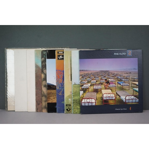 220 - Vinyl - 10 Pink Floyd LPs to include A Momentary Lapse of Reason, Atom Heart Mother, Ummagumma, More...