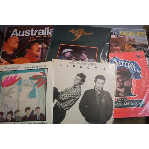 262 - Vinyl - Around 200 LPs featuring Country and other genres, sleeves and vinyl vg+ (two boxes)
