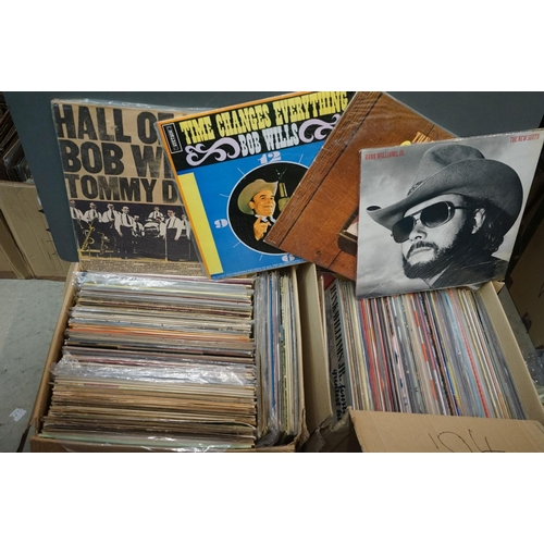 269 - Vinyl - over 200 LPs to include Country, Motown etc, sleeves and vinyl vg+ (two boxes)