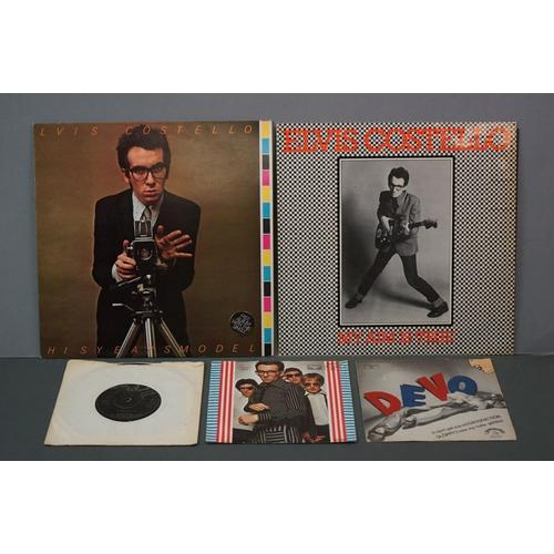 333 - Vinyl - Elvis Costello and Devo to include from Elvis Costrello 2 LP's My Aim Is True (German pressi...