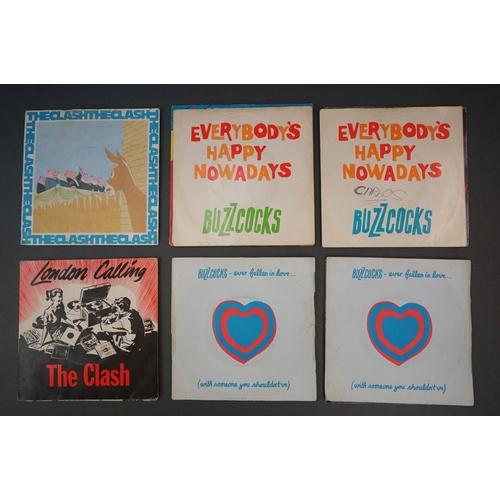 352 - Vinyl - Approx 39 first generation punk singles including The Clash x 8, The Buzzcocks x 7, Generati...