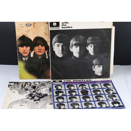 1082 - Vinyl - Four The Beatles LPs to include For Sale PMC1240, A Hard Days Night P,C1230 mono, Ernest J D...