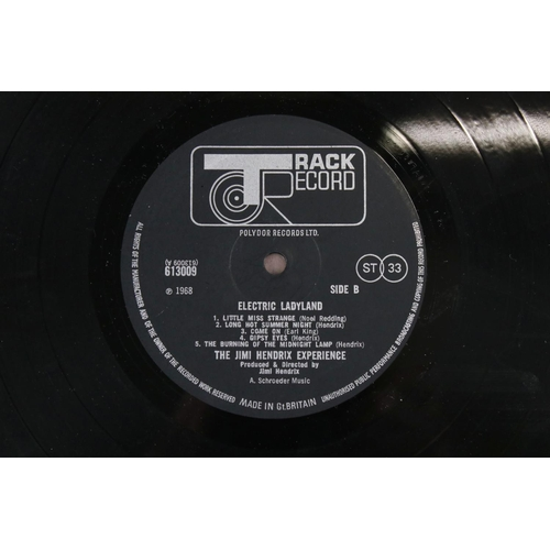 2 - Vinyl - Jimi Hendrix Electric Ladyland on Track 61300819 blue text, Jimi to the right when gatefold ...