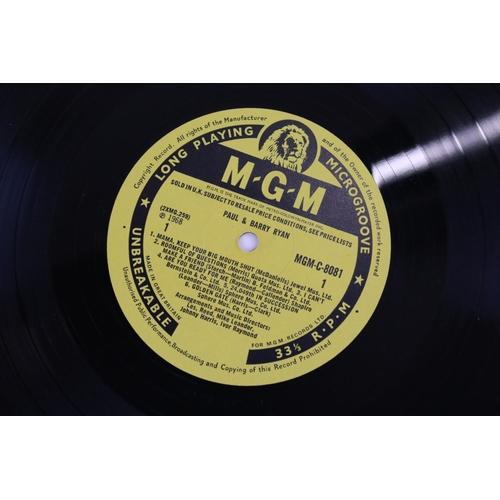 23 - Vinyl - MOD/BEAT Paul & Barry Ryan self titled LP on MGM C 8081, mono non laminated, flip back sleev...
