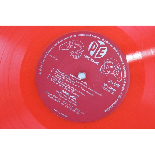 25 - Signed Vinyl - Diana Dors Swingin Dors LPs on Pye red vinyl, vg, autographed 'To Tony Sincerely Your...