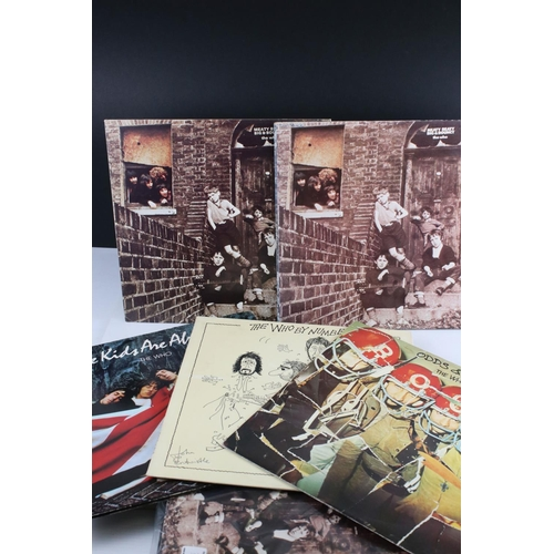30 - Vinyl - Nine The Who LPs to include Odds & Sods, By Numbers, The Kids Are Alright, 3 x Meaty Beaty B...