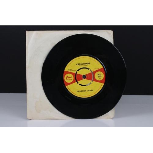 360 - Vinyl - Homesick James Crossroads / My Baby's Sweet (SUE Records WI-319) white paper sleeve, vinyl V...