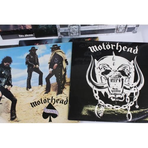 40 - Vinyl - Motorhead 7 LP's to include Self Titled (WLK 2), No Sleep At All (GWLP31), Rock N Roll (GWLP...