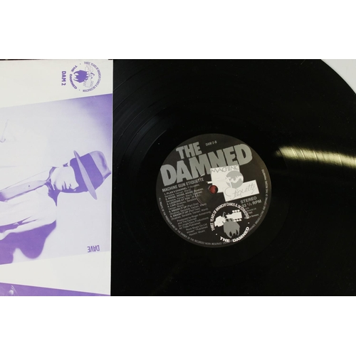 410 - Vinyl - The Damned - Two reissue LPs to include Damned Damned Damned & Machine Gun Etiquette plus a ...