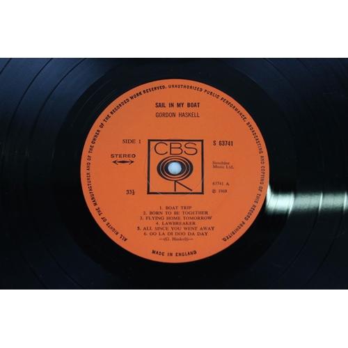 413 - Vinyl - Gordon Haskell Sail in My Boat LP on CBS 63741 vg/vg