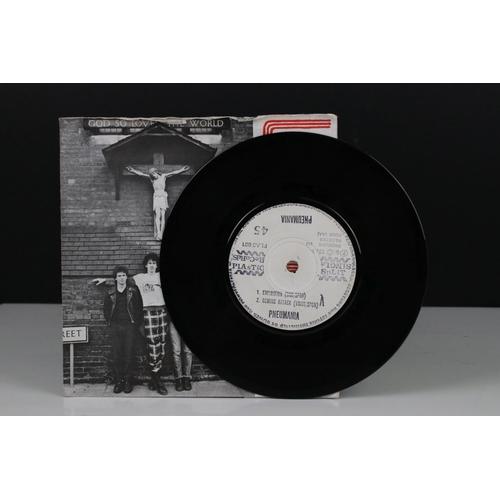 417 - Vinyl - UK Delay / Pneumania Split Single 45 on Plastic Records PLAS001 within wrap around sleeve wi...