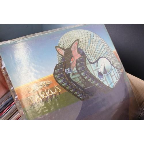 420 - Vinyl - Around 55 UK Rock LPs to include Status Quo, Uriah Heep, Rolling Stones, Wishbone Ash etc, s...