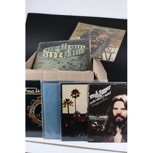 423 - Vinyl - Around 55 US Rock LPs to include Rob Seger, Tom Petty, Santana, Tom Rapp etc, sleeves and vi...