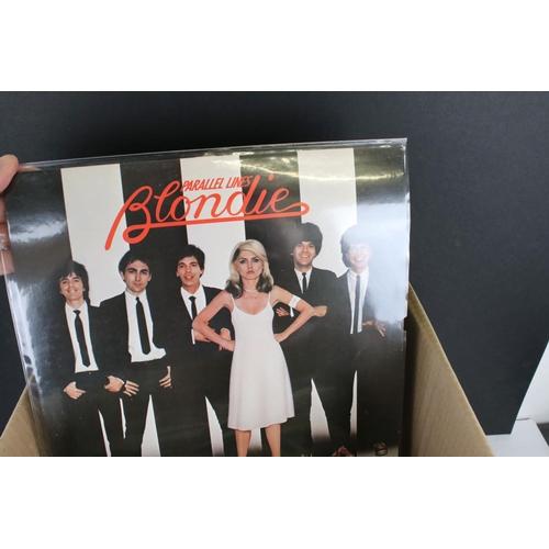 430 - Vinyl - Around 28 Punk / New Wave / Indie LPs to include Talking Heads, Blondie, The B-52s etc, slee...