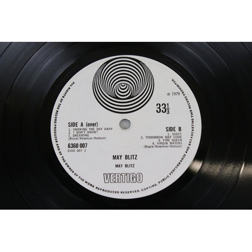 44 - Vinyl - May Blitz (Vertigo 6360 007) sleeve VG but has heavy shelf wear to seams and corners, spine ...