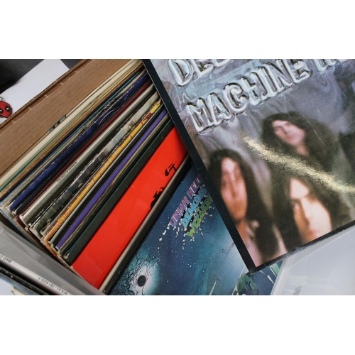 442 - Vinyl - First class collection of 34 Rock LP's including Deep Purple x 3, Free x 2, Thin Lizzy x 2, ...