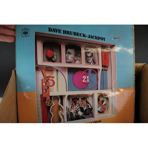 446 - Vinyl - Around 60 LPs featuring various genres including The Beatles, Jazz etc, sleeves and vinyl vg...