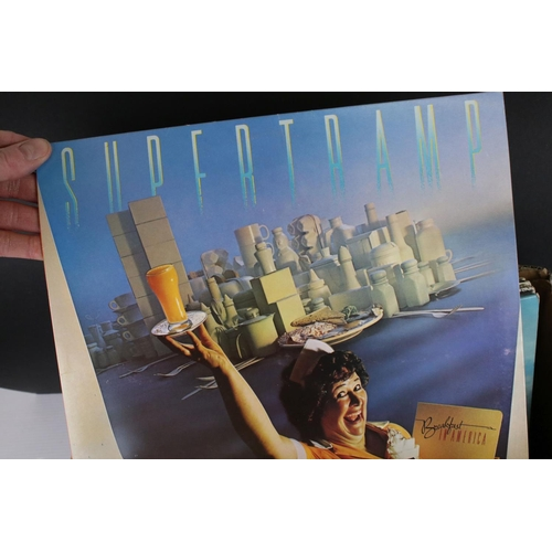 447 - Vinyl - Around 100 LPs from the 1960s-1980s featuring various artists and genres, vg+ overall