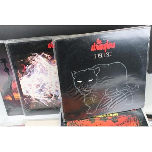 47 - Vinyl - Punk collection of 17 Stranglers LP's including rare Australian 3D cover of The Raven (VG+/E...