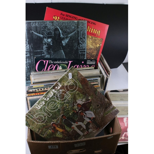 470 - Vinyl - Collection of around 140 mixed genre LPs from various eras, sleeves and vinyl vary with some...