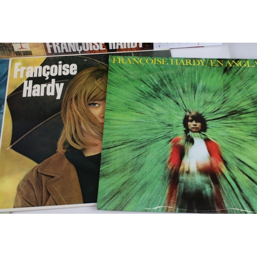 474 - Vinyl - Francoise Hardy collection of 9 LP's to include Self Titled (VRL 3028), Voila! (VRL 3031), E...