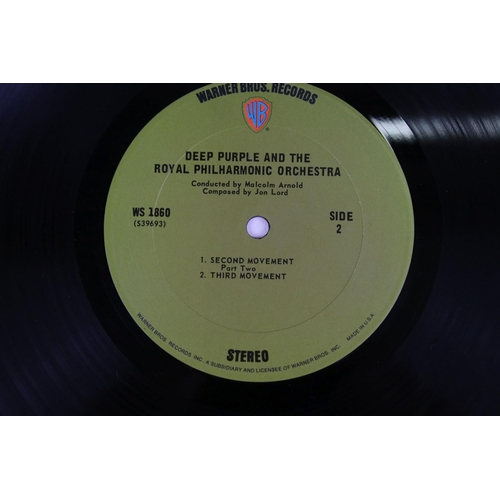 482 - Vinyl - Deep Purple collection of 3 LP's to include Fireball (SHVL 793), In Rock (SHVL 777) with lyr...