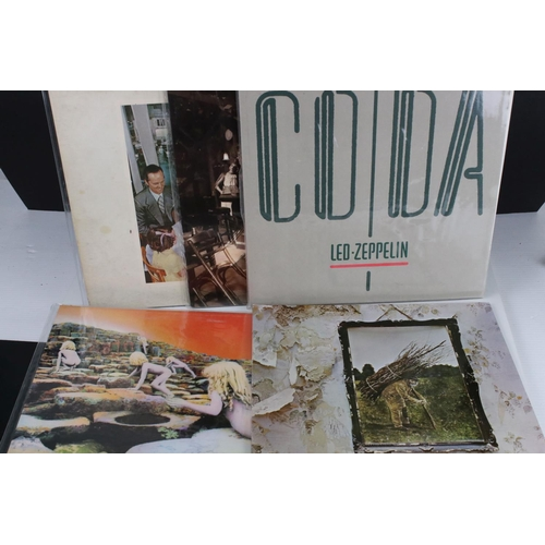 492 - Vinyl - 10 Led Zeppelin LPs to include some duplicates including III (2401002) and (K50002) German p...