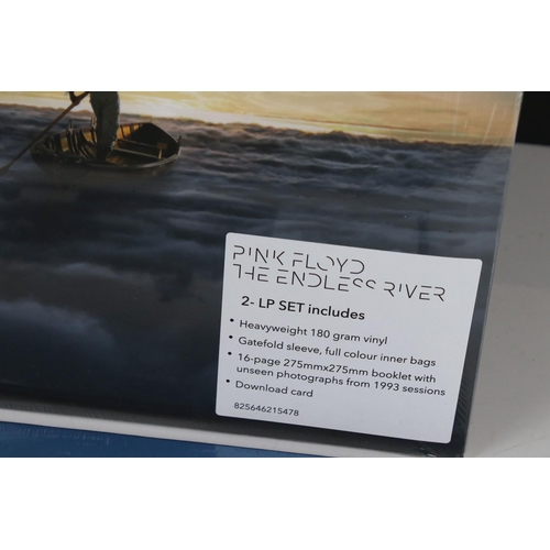493 - Vinyl - Two unopened Pink Floyd LPs of The Endless River 2LP set on 180 gm vinyl with 16 page bookle...