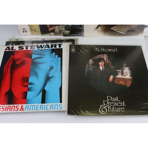 495 - Vinyl - Eight AL Stewart LPs to include Year of the Cat, The Early Years, Time Passages, 24 Carrots ...