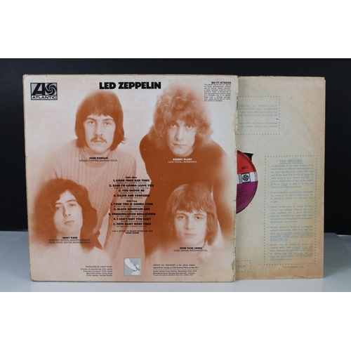7 - Vinyl - Led Zeppelin One (588171) Atlantic red/maroon label, Superhype publishing credit, turquoise ...