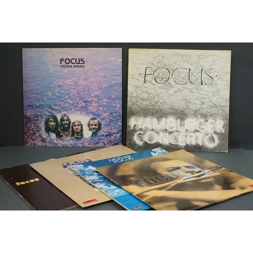 1227 - Vinyl - Six Focus LPs to include self titled 2659016, Moving Waves 2931002, In and Out of Focus 2344...