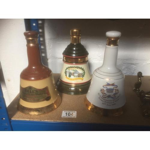 104 - 3 x Bells Whisky - All Full...