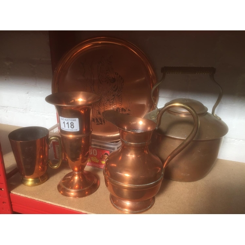 118 - Quantity of Copper Items...