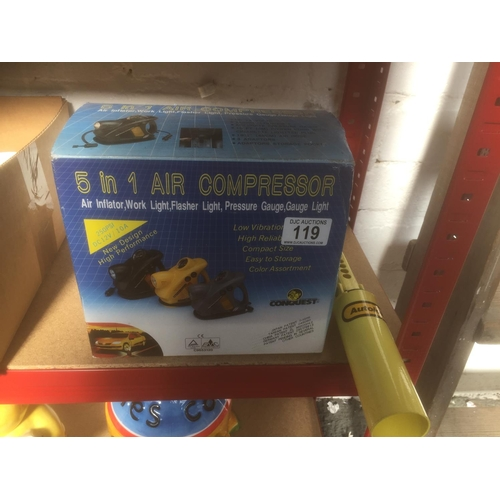 119 - Air Compressor & Handbrake Lock...