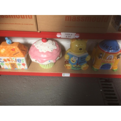 121 - 4 x Cookie Jars...