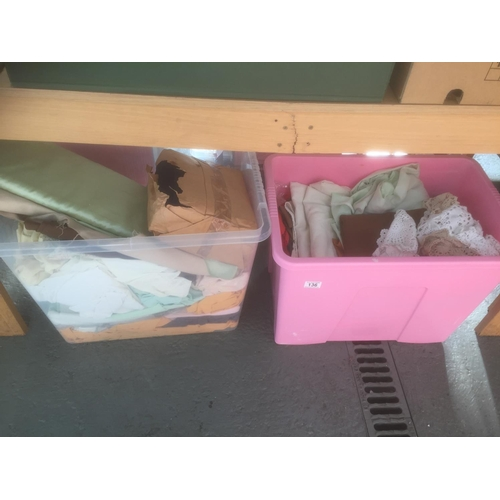 136 - 2 x Boxes of Linens & Material...