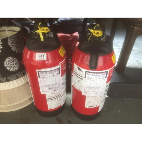 153 - 2 x Fire Extinguishers...