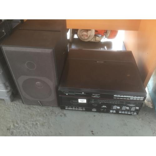 161 - Retro Stereo System & Speakers...