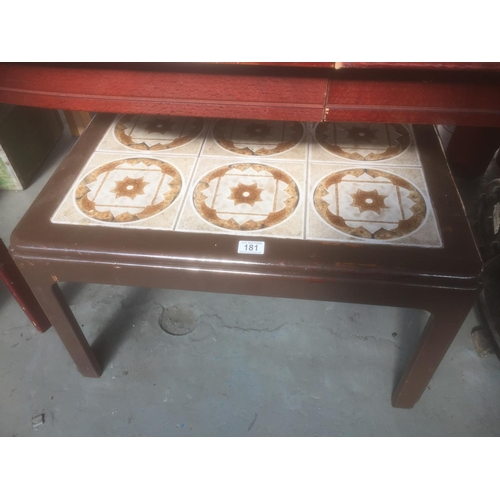 181 - Tile Top Coffee Table...