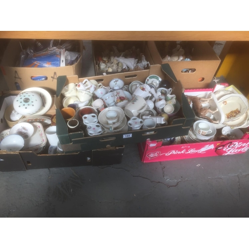 189 - 3 x Boxes of China, etc...