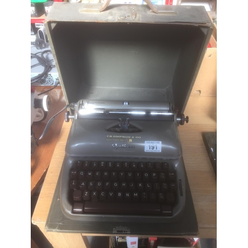 191 - Vintage Optima Typewriter...