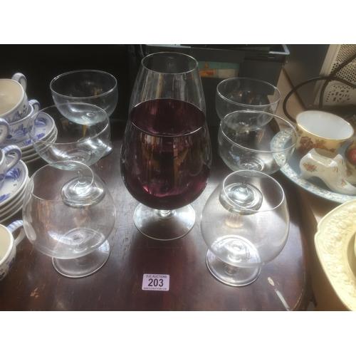 203 - Quantity of Oversized Glassware...