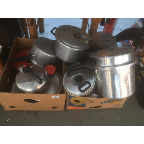 208 - Large Quantity of Camping Pans, etc...