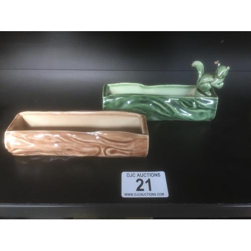 21 - 2 x Wade Ceramic Items...