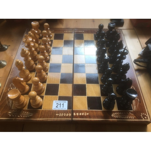 211 - Wood Chess Set...